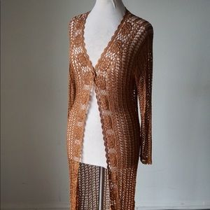 Sweaters - Vintage Knit Long Cardigan